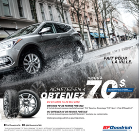 COUPON RABAIS PRINTEMPS 70$ BFGOODRICH