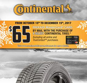 Continental Autumn Promotion 2017